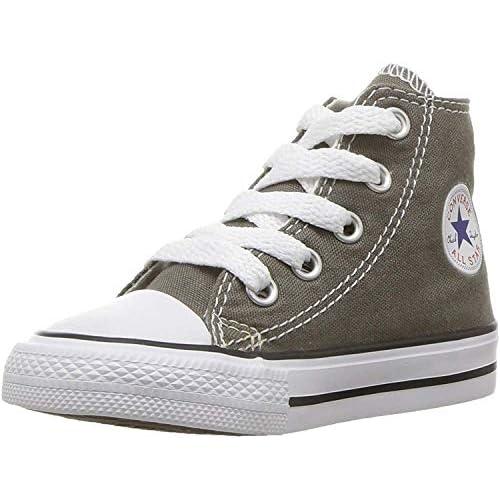 Converse Chuck Taylor All Star Toddler High Top, Scarpe per bambini, Grigio (Charcoal), 25 EU