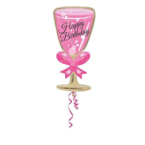 amscan 3362101 Anniversaire Verre Joyeux Anniversaire Junior Forme Feuille Ballons