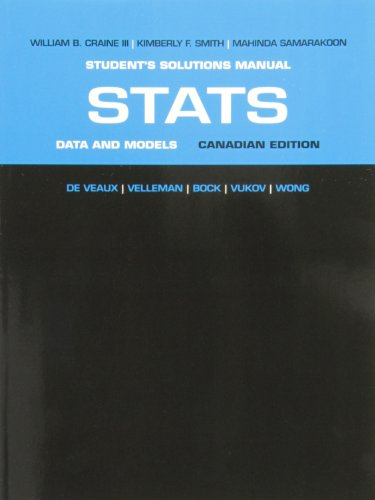 Student Solutions Manual for Stats: Data and Models, First Canadian Edition