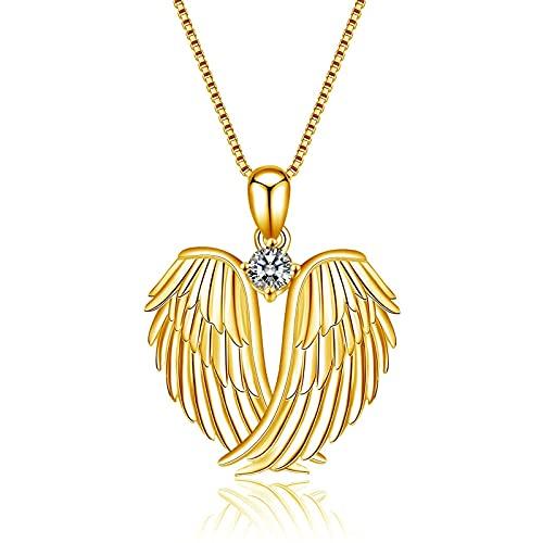 Collar para mujer con colgante de corazón, moderno, elegante y con colgante, ideal como regalo para amigos y seres queridos., talla única, Aleación,