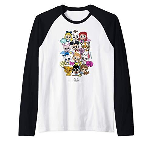 Disney Pixar Doorables Character Bundle Group Shot Camiseta Manga Raglan