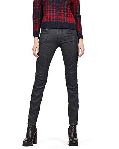G-Star RAW Damen 5620 Custom Mid Waist Skinny Jeans - Schwarz - 30W x 32L