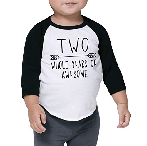 Bump and Beyond Designs Second Birthday Boy Shirt 2nd Birthday Shirt for Boys (Black 2T)