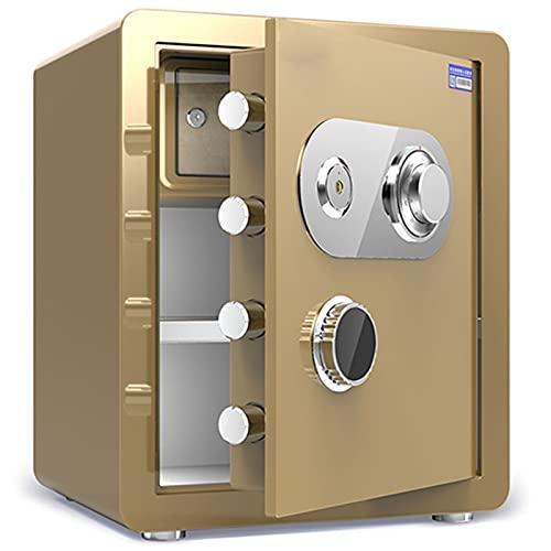 Cajas Fuertes Cajas Fuertes Ignífugas para El Hogar, Gabinete De Seguridad De Oficina De Acero/Caja De Almacenamiento, Bloqueo De Código Mecánico, 4 Colores (Color : Gold)