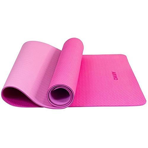 ARIMO Tapete Yoga Mat Antiderrapante TPE Ecológico Biodegradável Todos Os Tipos de Yoga/Pilates 181 x 61 cm x 6 mm (Rosa)