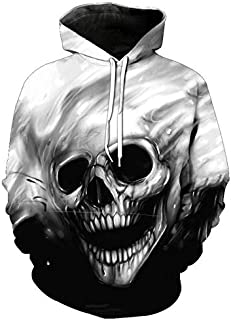 Creative Skull Hoodies For Women Men fashion Streetwear Clothing Hooded Sweatshirt 3d Print Hoody casual Pullover mm