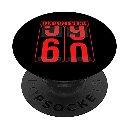 Oldometer 60 Years Old Shirt 60th Birthday Gift Born in 1961 PopSockets PopGrip Intercambiable