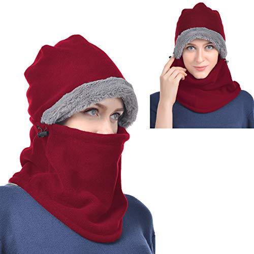 USHAKE Balaclava Fleece Hood for Men or Women, Heavy Fleece Unisex Balaclavas, Ski Face Mask, Winter...