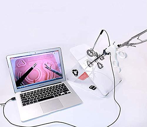 DMYY Laparoskopisch Chirurgie Ausbildung Box Kit Schulungsmodule Endoscope Panoramic Simulator Box Trainer Mit 1080P High-Definition-Kamera, Nadeln Und Fäden Medizinische Lehrmittel