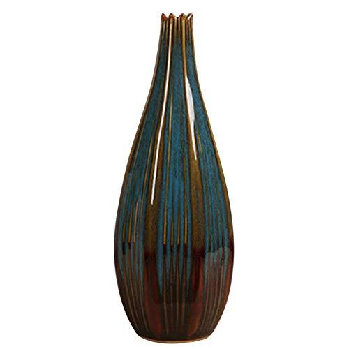 Keramische ornamenten Desktop Decor Vaas PlantKleurrijke Handcraft Planter vaas, donkerblauw