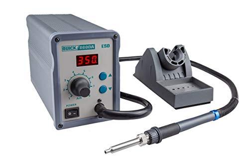 QUICK QU860DA Profi Heißluft Lötstation Set digital regelbar 120 Watt Temperaturbereich 100 - 450 °C SMD Reworkstation / Kalibrierfunktion / Standby / Auto-Kühlsystem