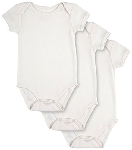 Pact Baby 3-Pack Short Sleeve, White, 9-12 Months