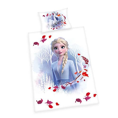 Herding Disney's Die Eiskönigin 2 Bettwäsche- Set, Baumwolle, weiß, 40x60cm, 100x135cm