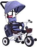 LYP Triciclo Bebé Trolley Trike Triciclo para niños Bicicletas de 1-3-5 años de Edad para bebés Infantiles Puser Bicicleta Plegable Ligero (Color : #1)