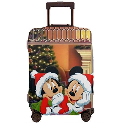 Navidad Minnie Mouse Funda de Equipaje de Viaje Protector de Maleta Equipaje Lavable...