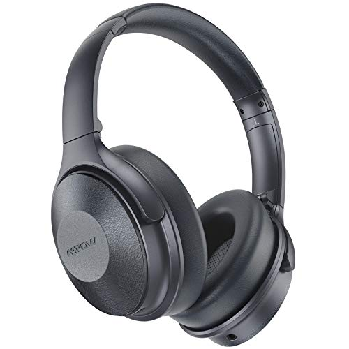 Mpow 45Hrs Active Noise Cancelling Headphones, H17 Bluetooth Headphones with Microphone, Over Ear, Quick Charge, Deep Bass, Wired/Wireless Headset for Kids, Adults, Travel, Online Class, Home Office
