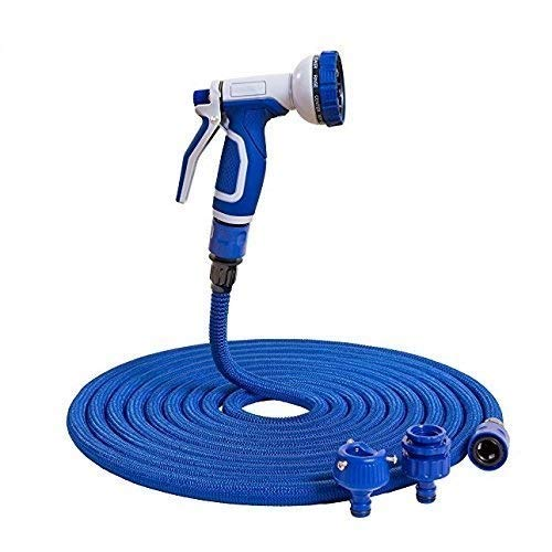 H&D® Original Flexibler Gartenschlauch Wasserschlauch Magic Hose dehnbarer Zauberschlauch 30m Blau