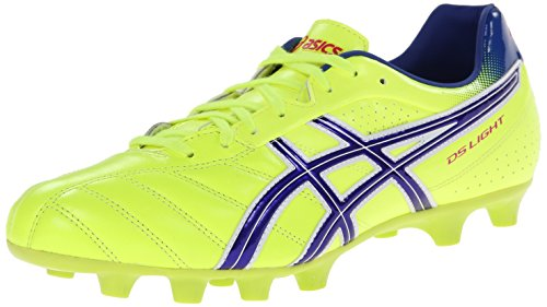 ASICS Men's Ds Light 6 Soccer Shoe,Flash Yellow/Blue,4.5 M US
