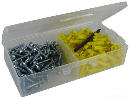 L.H. Dottie 2AK Anchor Kit, 10 by 1-Inch Length Screw, 122 Anchor, Yellow