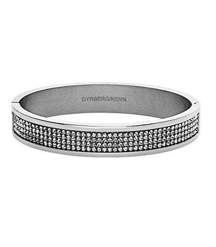 Dyrberg/Kern - Moderner Click-On-Armreif Mit Klaren Swarovski-Kristallen - Silberfarbenes Finish - Dänisches Design - Edelstahl - Nickelfrei - Helix II SS