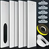 Universal Portable Air Conditioner Window Seal Kit with 5.1'' Coupler, Reinforced PVC Plate Lengh Adustable AC Window Vent Kit for Sliding Window, Fit for All AC with Exhaust Hose of 5.1 Inch Diameter