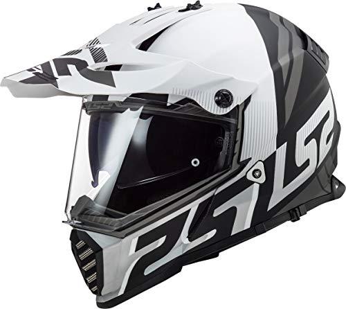 LS2 MX436 Pioneer Evo Evolve Motocross Helm Weiß Matt/Schwarz XXS (51/52)