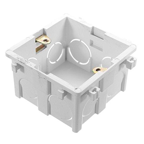 MASUNN 86x86mm wandplaat doos universeel wit stopcontact schakelaar terug cassette