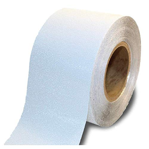 ifloortape White Reflective Foil Outdoor Pavement Marking Tape | Conforms to Rough or Smooth Asphalt and Concrete Surfaces (4 Inches x 150 Feet per Roll)