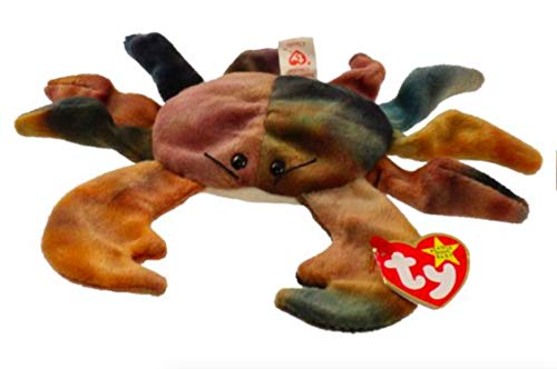 TY Beanie Babies Claude the Crab Stuffed Animal Plush Toy - 6 inches long - Brown