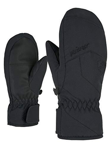 Ziener Mädchen LAYOTA PR Mitten Girls Ski-Handschuhe/Wintersport | Warm, Atmungsaktiv, Primaloft, Black, 5
