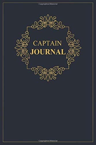 Captain Journal: A classy black and gold Captain Journal for day-to-day work