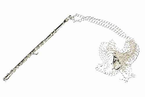 Miniblings Flautas 6cm Cadena Flauta Flautas Collar 60cm Flauta Largos de Plata