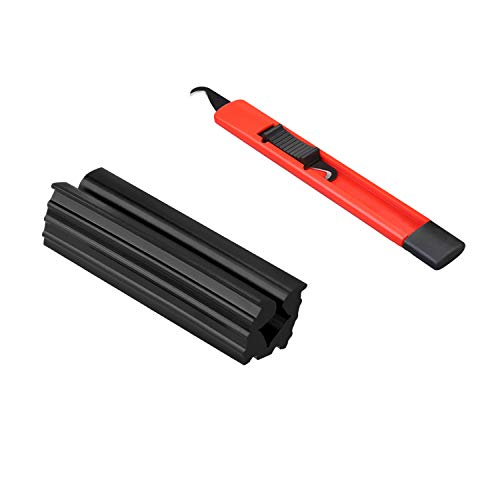 Lehui KINGRASP Golf Grip Kits for Regripping Golf Clubs - Professional Quality - Options Include Hook Blade, 13 Grip Tape Strips, Grip Rubber (Hook Knife +13 Grip Tape Strips+Rubber Fixture)