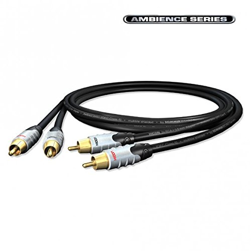 HICON Ambience Stereo Cinch Kabel RCA 3-fach geschirmt | HIA-C2C2-0075