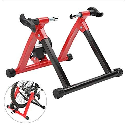 Klevsoure - Soporte para Rueda de Bicicleta de 26 a 28 Pulgadas, para Entrenamiento en Interiores, estación de Ejercicio, Entrenamiento de Bicicleta, Control inalámbrico, Color Rojo