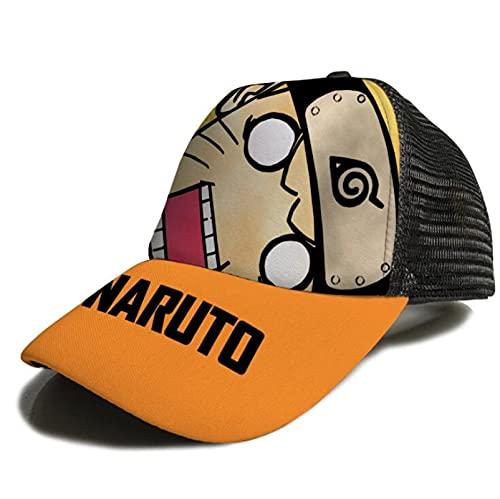 XINGENG Uzumaki Naruto sombrero de Naruto Dad Hat hombres mujeres algodón ajustable gorra de béisbol