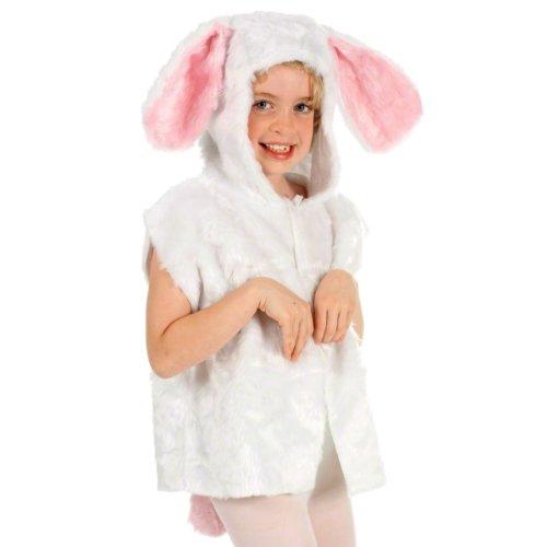 Unbekannt Charlie Crow Weißes Hase kostüm für Kinder - Pelz - Einheitsgröße 3-8 Jahre.