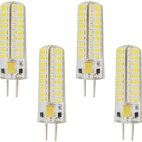 Gmasuber GY6.35 Bombillas LED 4W Blanco frío 6000K LED Maíz Bombillas para Paisaje Bajo Iluminación Gabinete, G6.35 GY6.35 Base Bi-Pin, 72 LED 2835SMD, paquete de 4