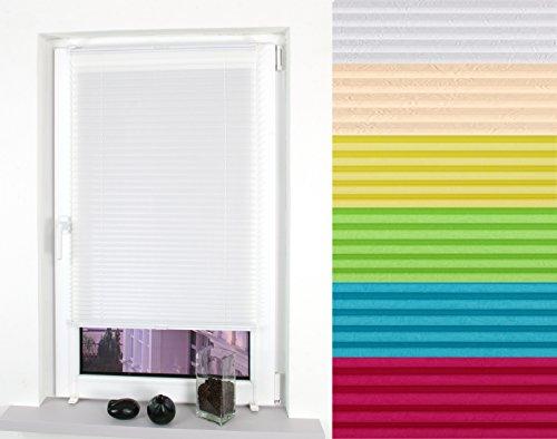 Preisvergleich Produktbild Garduna FIX Plissee grün appel 90cm - verspannt - Smartfix - Klemmfix - ohne bohren - viele Farben & Größen - Sichtschutz - lichtdurchlässig