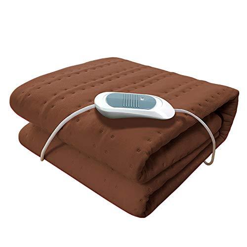 QHGao verwarmingskussen voor tweepersoonsbed, gelijkmatige verwarming over het hele lichaam, automatische uitschakeling na 8 uur en 3 temperatuurinstellingen, stof, wasbaar, reis of thuis.