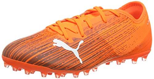PUMA Herren Ultra 2.1 Mg Fußballschuh, Schockierendes Orange Puma Schwarz, 45 EU
