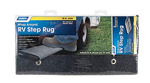 Camco 42925-A Gray 18 Inch 42925 18' Rv Step Rug-Grey