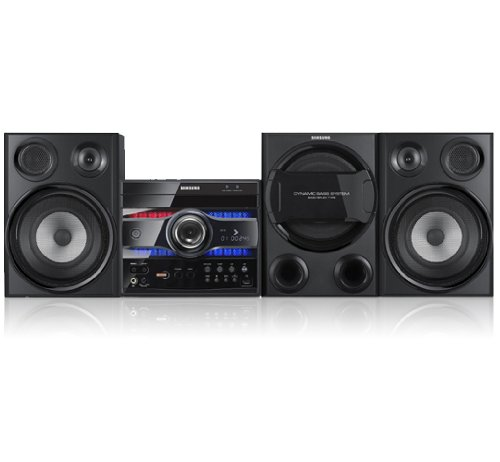 Samsung MAX DG 56 2.1 Mini DVD Heimkinosystem (280 Watt, 3fach DVD-Wechsler, USB, Subwoofer) schwarz