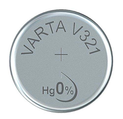Varta 14501321 silberoxid Knopfzelle (V321, 1er Pack) silber