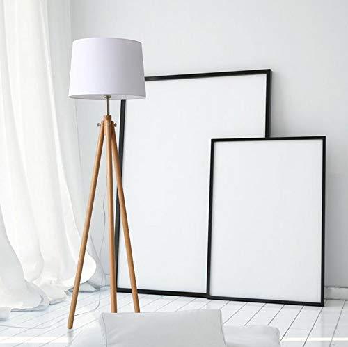 WUYUESUN Lámpara de pie moderna para sala de estar, minimalista, nórdico, lámpara de pie vertical, luces decorativas de suelo LED (color de la pantalla blanca: blanco)