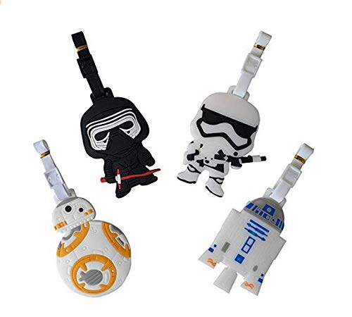 Energy power shop 5' Inspired 4pcs Luggage Tags Charms Kylo ren BB8 Stormtrooper R2D2