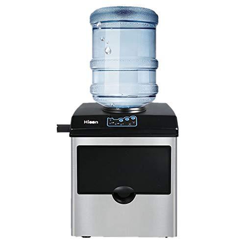 TOPYL Portable Enfriador De Agua Contraparte Máquina De Fabricación De Hielo,40lbs Diario-Cubitos Listo En 8 Minutos,2 En 1 Hielo con Dispensador De Agua A 35.7 * 42.3 * 45.2cm
