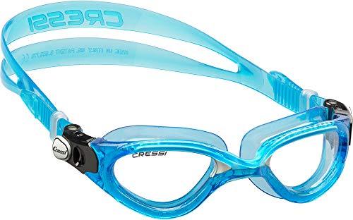 Cressi Flash Swim Goggles Gafas de Natación Premium para Adultos 100% Anti UV, Azul/Blanco, Talla Única ✅