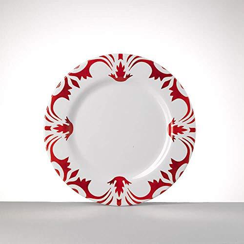 Mario Luca Giusti Set 6 Tessa Assiette Plate diam. 23cm Rouge