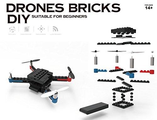Flying Gadgets Bauen Sie EIN Ziegelstein DIY Leiert Werkzeug - Technologisches Minibrummen-Baustein-Aufbau-Werkzeug Her DIY Drone können Sie Ihre eigene Drohne konstruieren